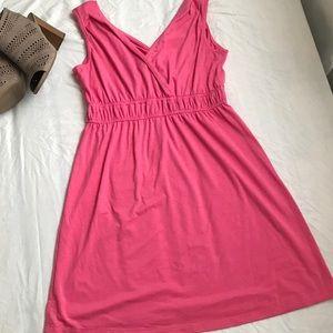 💘💘BUBBLEGUM PINK V NECK SLEEVELESS DRESS
